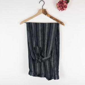 [ANGIE] Striped Wide Leg Lounge / Travel Pants